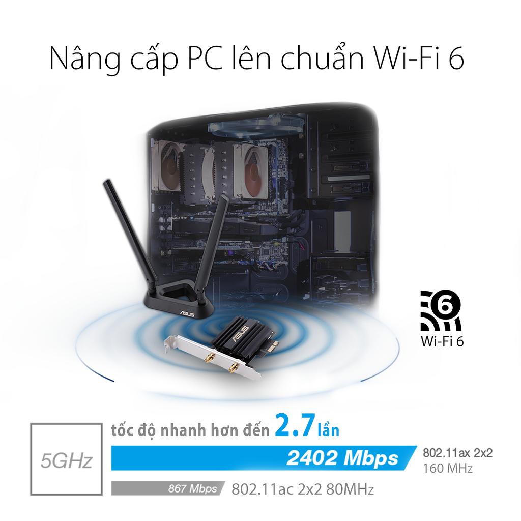 Asus công bố sản phẩm card mạng Wi-fi 6 PCE-AX58BT  ảnh 2