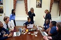 Những bức ảnh tiêu biểu trong năm của người đứng đầu Nhà Trắng