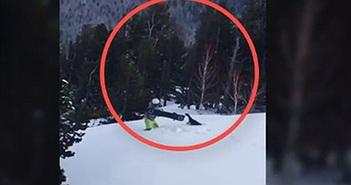 """""""Chết cười"""" gà gô rừng đuổi theo người trượt tuyết """"ăn thua"""" đến cùng"""