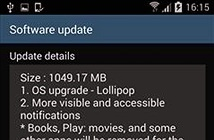 Samsung Galaxy S4 phiên bản quốc tế đã lên đời Android 5.0