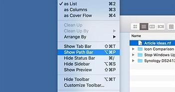 Tùy biến Finder trên MacOS để dễ dùng hơn