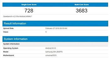 Lộ cấu hình của Samsung Galaxy J8 2018: Exynos 7870, 2 camera 16MP