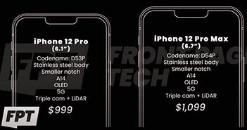 Rò rỉ giá bán iPhone 12 từ 649 USD