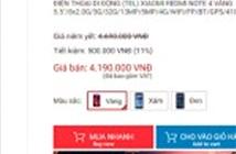 Xiaomi Redmi Note 4 giảm giá hấp dẫn, còn 4,19 triệu đồng