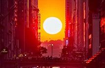 Hiện tượng hoàng hôn Manhattanhenge ở New York