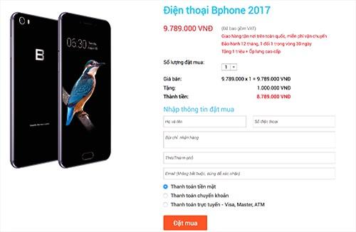 Bphone 2017 đang được giảm giá 1 triệu đồng