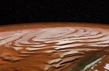 Kinh ngạc lượng lớn băng hỗn hợp trên sao Hỏa