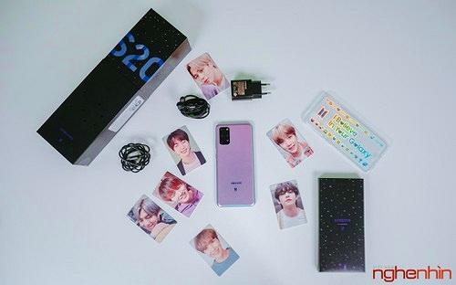 Trên tay Samsung Galaxy S20+ BTS Edition: Màu đẹp nhất của S20, biết chiều lòng fan