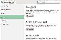 Cách xóa trắng máy tính Windows 10 và quay lại bản cũ