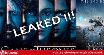 Kịch bản Game of Thrones bị phát tán trên mạng