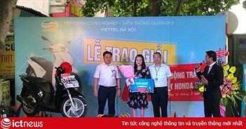 Viettel Hà Nội tặng xe máy SH kích cầu thuê bao hòa mạng trả sau