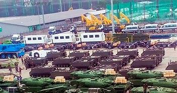 Ảnh dàn xe tăng-thiết giáp đổ bộ ồ ạt tới Indonesia