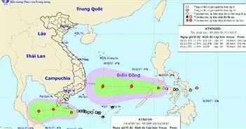Tin áp thấp nhiệt đới gần bờ và áp thấp nhiệt đới gần biển Đông