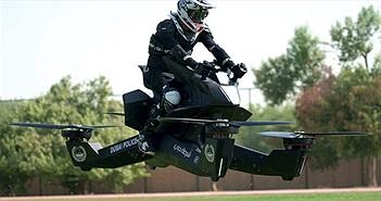 """Choáng với độ chịu chơi của cảnh sát Dubai: Tuần tra bằng """"xe bay"""" 3,5 tỷ hóng gió cho mát"""
