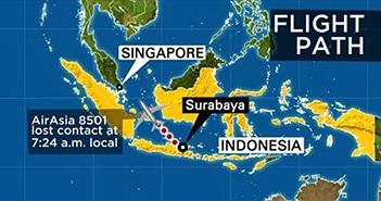 """Singapore dùng """"điện thoại dưới nước"""" truy tìm hộp đen QZ8501"""