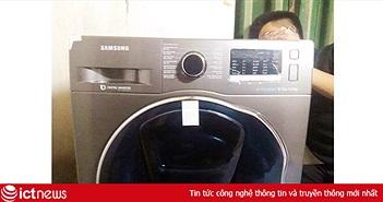 """Sau khi bị tố """"khuyến mãi ảo"""", Lazada đã chuyển chiếc máy giặt Samsung cho khách hàng"""