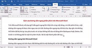 Cách xóa đường nằm ngang phiền phức trên Microsoft Word
