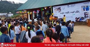 Samsung xây trường, thư viện, tặng đèn năng lượng mặt trời cho trẻ em vùng cao Nghệ An