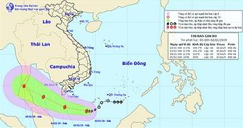 Bão Pabuk hướng vào biển Nam Bộ