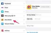 Cách xóa ứng dụng Sina và Tencent khỏi iPhone