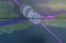 Trạm không gian Thiên Cung 1 đã rơi xuống Trái Đất, cháy rực lửa