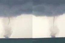 Video: Xuất hiện vòi rồng khủng trên biển Phú Quốc