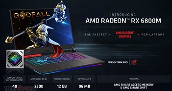 AMD công bố dòng GPU Radeon RX 6000M với kiến trúc RDNA 2 cực mạnh