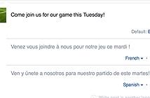 Facebook cho đăng status với nhiều ngôn ngữ cùng một lúc