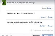 Facebook thử nghiệm chia sẻ status đa ngôn ngữ