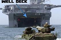 Ngoạn mục cảnh tăng PT-76B VN bơi vào tàu đổ bộ