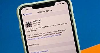 Apple tiếp tục ra mắt phiên bản iOS 13.1.2 để sửa lỗi iOS 13