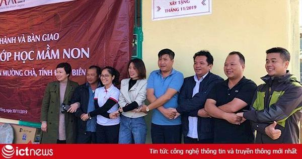 ICTnews khánh thành và bàn giao lớp học mầm non xã Sá Tổng, Điện Biên