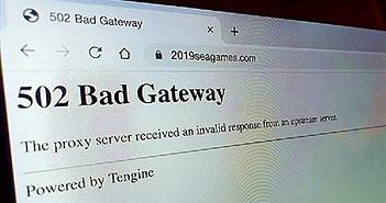 Trang web SEA Games 30 gặp sự cố không thể truy cập