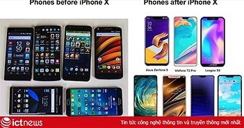 Hai bức ảnh cho thấy Apple ảnh hưởng quá lớn đến điện thoại Android