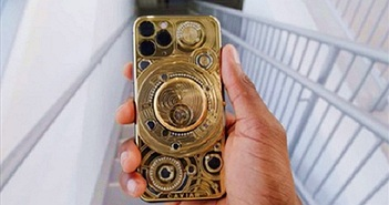 """""""Đập hộp"""" iPhone 11 dát vàng 24-carat, đính 137 viên kim cương"""