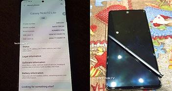 Điện thoại Samsung Galaxy Note 10 Lite lộ ảnh thực tế