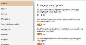 Windows 10: Những thủ thuật bảo vệ tính riêng tư