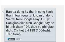 Hướng dẫn dùng thẻ Viettel mua ứng dụng Google Play