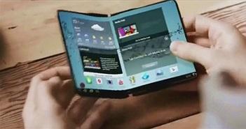 Smartphone có thể gập lại của Samsung lộ thông tin thú vị