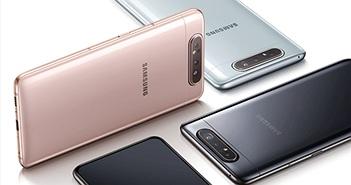 Galaxy A80 với camera trượt xoay 180 độ lên kệ tại Việt Nam giá 15 triệu đồng