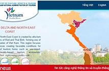 Website quảng bá du lịch Việt Nam có giao diện mới