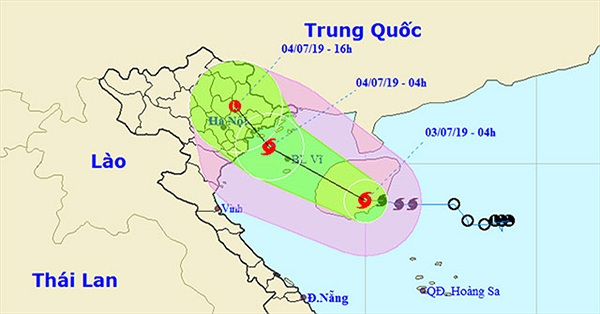 Áp thấp nhiệt đới mạnh lên thành bão số 2, hướng vào Quảng Ninh - Hải Phòng