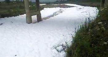 Cả dòng sông bỗng trở nên trắng xóa, biết nguyên nhân mới thấy tác hại vô cùng đáng sợ