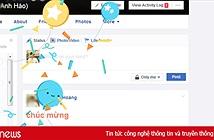 Hướng dẫn tung bóng hoa chúc mừng trên Facebook