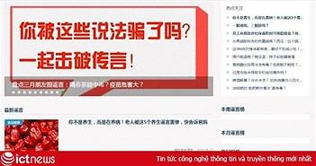 Trung Quốc dùng trí tuệ nhân tạo xác định tin thất thiệt trên mạng