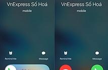 iPhone có hai kiểu trả lời khi có cuộc gọi đến