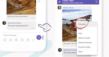 """Viber có thêm tính năng dịch nhanh tin nhắn đa ngôn ngữ bằng 2 """"cú chạm"""""""
