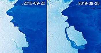 """Tảng băng lớn bằng London ở """"chiếc răng lung lay"""" tách khỏi Nam Cực"""