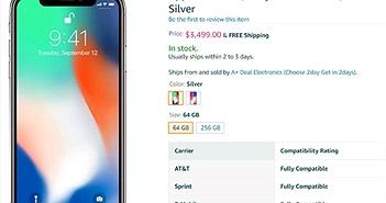 iPhone X được chào giá hơn... 3000 USD trên Amazon