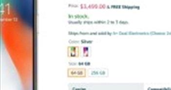 iPhone X được rao bán với giá hơn... 3000 USD trên Amazon